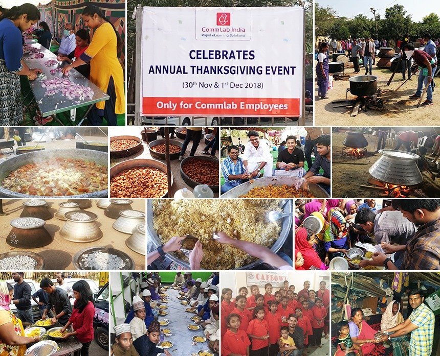 Annual Thanksgiving Celebrations of CommLab India – 2018