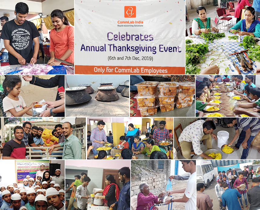 CommLab India Celebrates Thanksgiving for a Successful 2019